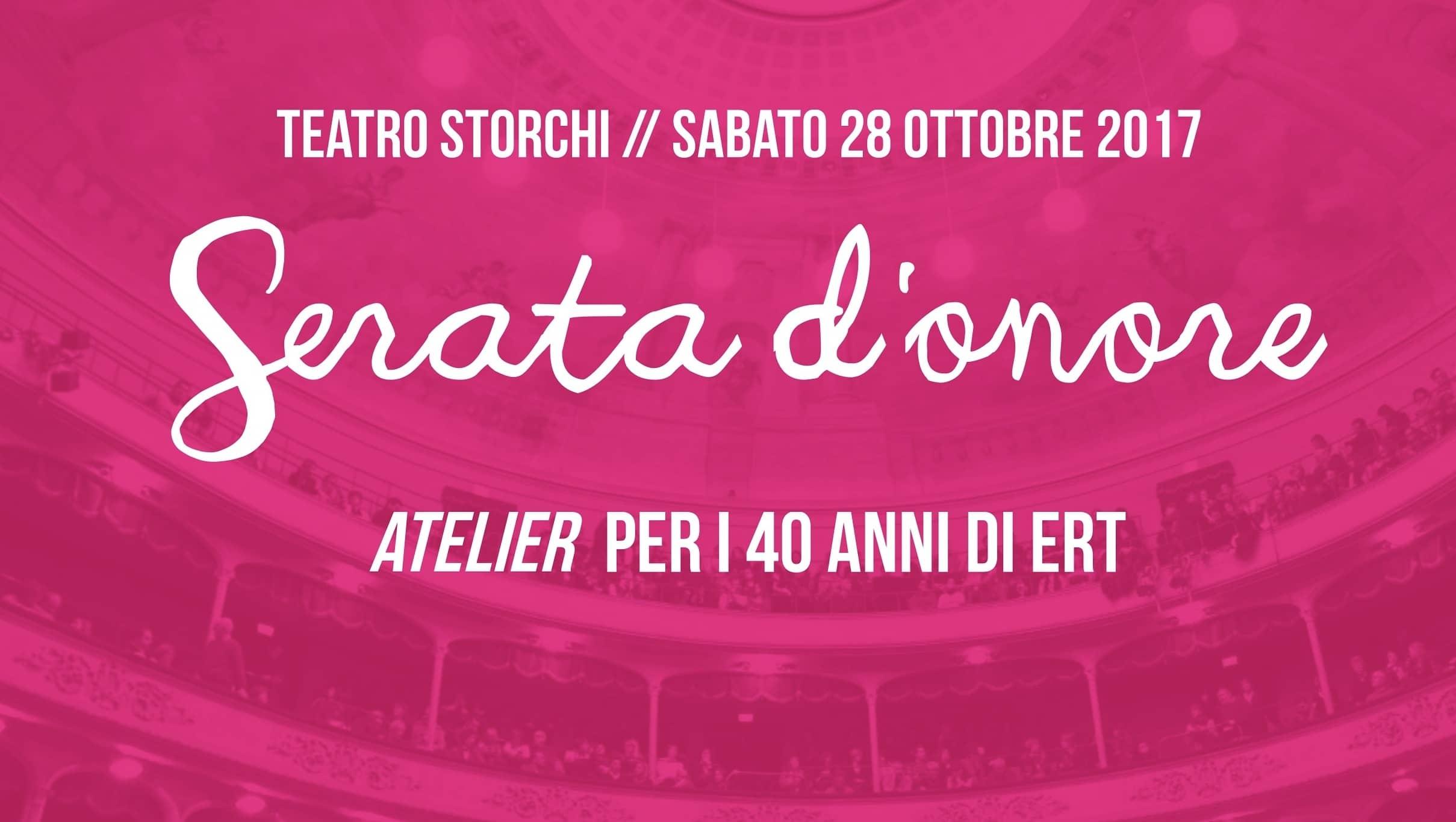 Serata d'onore per i 40 anni di ERT - Modena