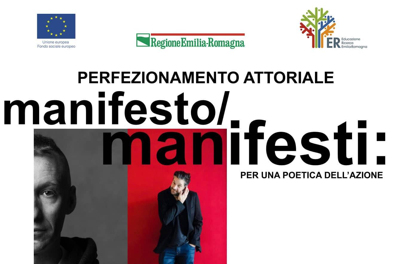 Bando di selezione per il corso Perfezionamento attoriale - Manifesto/Manifesti: per una poetica dell'azione
