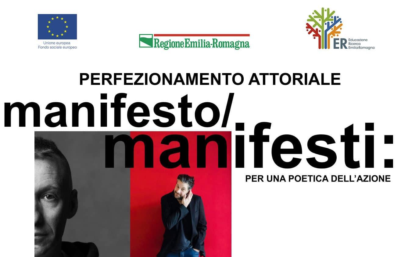 Proroga scadenza bando di selezione per il corso Perfezionamento attoriale - Manifesto/Manifesti: per una poetica dell'azione